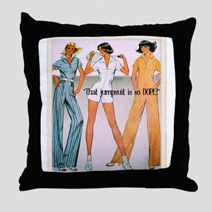 Jumpsuit Throw Pillow