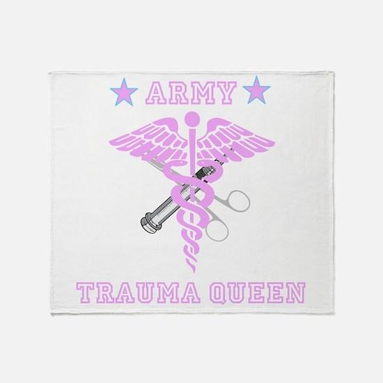 Army Trauma Queen Throw Blanket