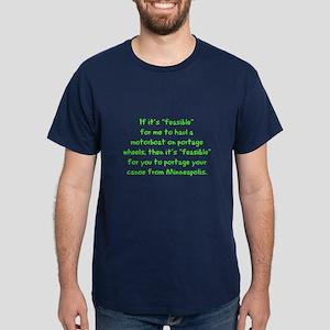 Feasible Dark T-Shirt/green text