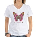 Sweetness Butterfly Women's V-Neck T-Shirt