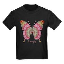 Sweetness Butterfly Kids Dark T-Shirt
