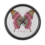 Sweetness Butterfly Large Wall Clock