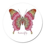 Sweetness Butterfly Round Car Magnet