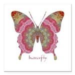 Sweetness Butterfly Square Car Magnet 3