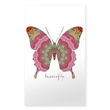 Sweetness Butterfly Sticker (Rectangle)