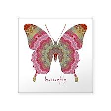 Sweetness Butterfly Square Sticker 3