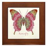 Sweetness Butterfly Framed Tile