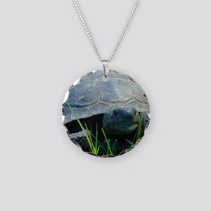Gopher Tortoise Necklace Circle Charm