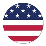 US Flag Round Car Magnet