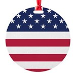 US Flag Round Ornament
