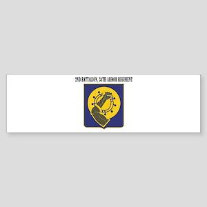 2nd Battalion, 34th Armor Regiment Sticker (Bumper