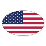 US Flag Sticker (Oval)