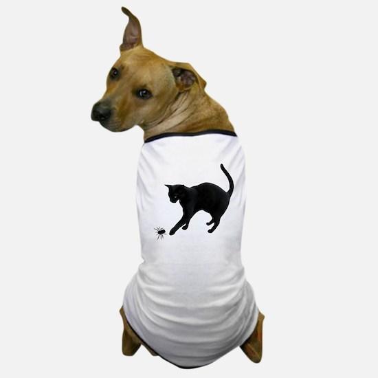 Black Cat Spider Dog T-Shirt