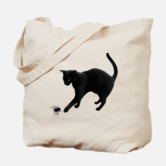 Black Cat Spider Tote Bag
