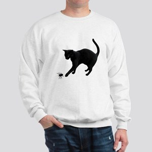 Black Cat Spider Sweatshirt