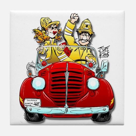 """""""THAT FIREMAN GUY/GAL"""" Tile Coaster"""