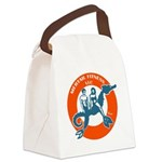 Mertail Fitness Logo Canvas Lunch Bag