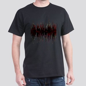 Synthesized Army Audio Wave Dark T-Shirt