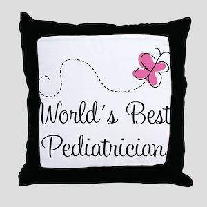 Pediatrician (Worlds Best) Throw Pillow