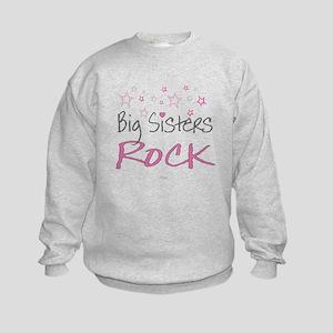 Big Sisters Rock Kids Sweatshirt