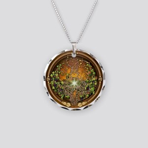 Sacred Celtic Trees - Vine Necklace Circle Charm