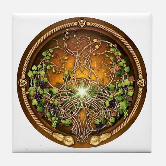 Sacred Celtic Trees - Vine Tile Coaster