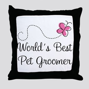 Pet Groomer (Worlds Best) Throw Pillow