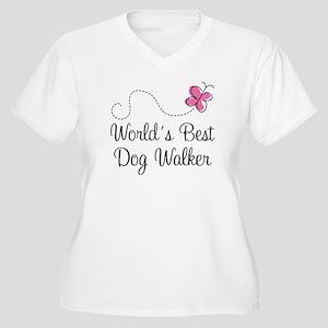 Dog Walker (World's Best) Women's Plus Size V-Neck