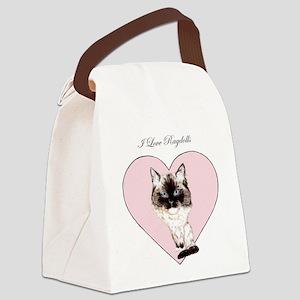 I Love Ragdolls Canvas Lunch Bag