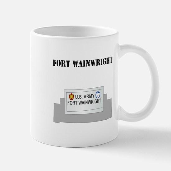 Fort Wainwright with Text Mug