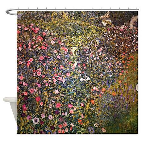 Gustav Klimt Italian Garden Shower Curtain