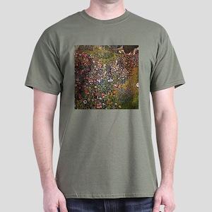 Gustav Klimt Italian Garden Dark T-Shirt
