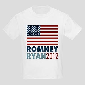 Romney Ryan 2012 American Flag Kids Light T-Shirt