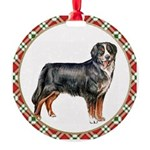 Bernese Mountain Dog Round Ornament