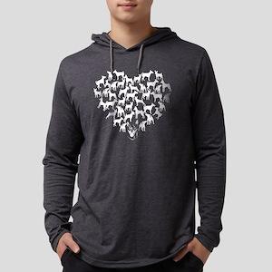 Miniature Pinscher Heart T-shirt Mens Hooded Shirt