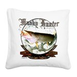 Musky hunter Square Canvas Pillow