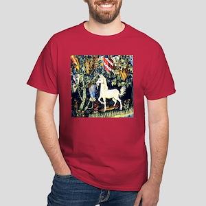 William Morris Unicorn Dark T-Shirt