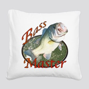 Bass master Square Canvas Pillow