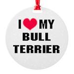 Bull Terrier Round Ornament