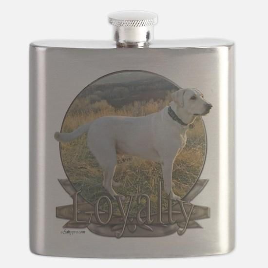White lab loyalty Flask