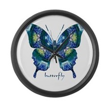 Surrender Butterfly Large Wall Clock