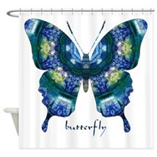 Surrender Butterfly Shower Curtain
