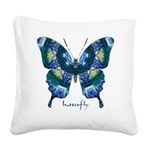 Surrender Butterfly Square Canvas Pillow