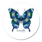 Surrender Butterfly Round Car Magnet
