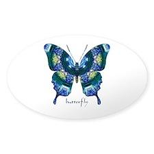 Surrender Butterfly Sticker (Oval)
