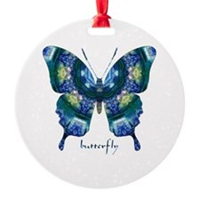 Surrender Butterfly Round Ornament