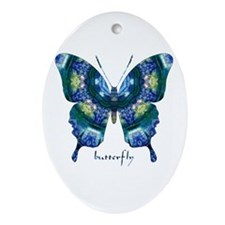 Surrender Butterfly Ornament (Oval)