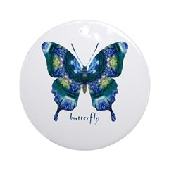 Surrender Butterfly Ornament (Round)