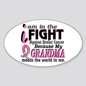 In Fight Because My Breast Cancer Sticker (Oval)
