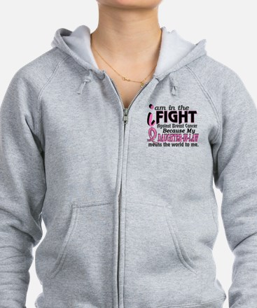 In Fight Because My Breast Cancer Zip Hoodie